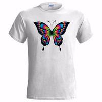 ingrosso abstract di farfalla-ASTRATTA FARFALLA ART MENS T SHIRT TRANCE NATURA PSICHEDELICA TECHNO RAVE