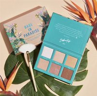 Wholesale eyeshadow without for sale - Group buy Bretmen Babe In Paradise Colors Eyeshadow Palette Makeup Highlight bronzer glow contour Palette without brush