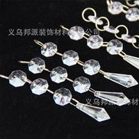 Wholesale necklace water pearls online - Transparent Water Drop Pendant Acrylic Bead Crystal Necklace Wedding Prop Curtain Arts Crafts Gifts Home Decor bp bb