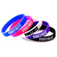 Wholesale cosplay wristband online - Game Fortnite Silicone Bracelets Battle Royale Wristband Soft Fortnite Letter Bracelet Bangle Children Wrist Band Straps Kids Cosplay Gift