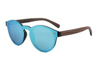 Wholesale Blue Protective Film - Summer Sunglasses Protective Goggles Against Ultraviolet Spring Foot Natural Bamboo Wood Trend Polarizing Glasses Plain Film Sunglasses