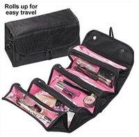 ingrosso roll n sacchetto cosmetico-Borsa da viaggio pieghevole Roll-N-Go borsa da viaggio appesa custodia da toilette borsa da trucco cosmetica borsa da viaggio in nylon