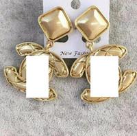 aksesuar kişiliği toptan satış-Yeni sıcak kişilik parlak altın mektup küpe takı bayanlar hediye parti moda aksesuarları