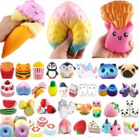 Wholesale free kids toys - Jumbo Slow Rising Squishies Scented Squishy Squeeze Toy Stress Reliever gift more designs Kids Adults Toy free shipping
