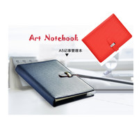 Wholesale locked diaries - Kawaii 185*135mm Top Quality Pu Leather Cover A6 50 Sheets Business Agenda Diary Spiral Not With Lock office notebook