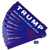 Wholesale American Car Classics - Blue US Presidential Election Trump Bumper Car Stickers Decals 23*7.6cm Car Bumper Stickers With Lettering Donald Trump President Stickers
