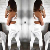 nuevas mujeres de moda leggings slim al por mayor-Leggings de punto de nueva moda para mujer Leggings elásticos de cintura alta delgados Leggings de impresión de fitness Pantalones de mujer transpirables Leggings