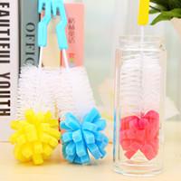 limpieza de tubos al por mayor-Cepillos para biberones Cepillo para taza de limpieza para tubo de pico de pezón Niños Cepillo de limpieza para alimentación C5289