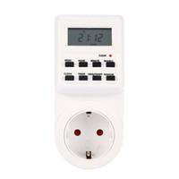 temporizadores de 24 horas al por mayor-12/24 horas 7 días / semana Enchufe UE / EE. UU. / Reino Unido / CA Conmutador programable Conector Digital LCD Enchufe electrónico Hogar inteligente
