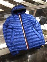 ingrosso meglio per l'inverno-Cappotto invernale da uomo Casual Piumino sottile Giubbotto in vera pelle con cappuccio Hommes Manteau Very Good Best Quality 785