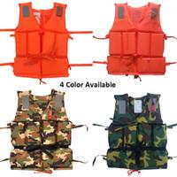 Wholesale boating vest - Professional Kids Adult Men Life Jack Buoyancy Life Vest Swimming Boating Safety Women Survival Life Vest Whistling Drifting