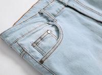 Wholesale stylish stretch pants - QMGOOD 2018 Men's Ripped Jeans Slim fit Skinny Jeans Men Stretch Denim Distress Pants Boys Stylish Long Skinny Hole