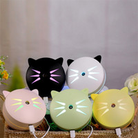 Wholesale office power supplies - Kawaii Cat Air Purifier Living Room Office Desk Small Mini Silicone Night Light Humidifier USB Vehicular Power Supply Anion Purifiers 35mt Y