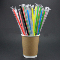Wholesale disposable pipettes - Beverage juice Transparent silicone pipette food grade plastic 19cm silicone straight straw for bar home straws
