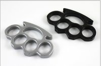 Wholesale thick dusters online - Self defense equipment thick thickness STEEL BRASS KNUCKLE DUSTER self defense tool brass knuckle clutch