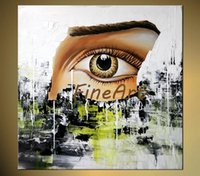 pinturas a óleo venda por atacado-Pintados à mão pintura a óleo abstrata olhos humanos parede arte decorativa parede citações paleta faca textura pesada pintura a óleo belas artes pinturas ha