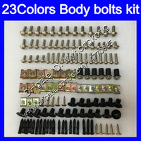 Wholesale Honda Blackbird Fairings - Fairing bolts full screw kit For HONDA CBR1100XX Blackbird 96 97 98 99 00 01 02 03 04 05 06 07 1100XX Body Nuts screws nut bolt kit 23Colors