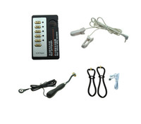 elektrische bdsm geräte großhandel-BDSM Bondage Gear Elektroschock Sexspielzeug Elektroschock Therapiegerät Kit Ohrclips Rad Roller Vaginal Folter für Frauen