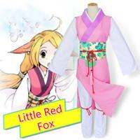 Wholesale Fox Chinese - Anime The Little Red Fox Tu Shan Suu Chinese Style Han Cosplay Costume Kimono Girl Dress Women Costume New Dresses
