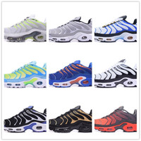 Wholesale Cheap Solid Gold - 2018 New Vapormax TN Plus Men Black White Red Running Shoes for Air Tn Sneakers cheap Casual Noir Basket Requin Chaussures tn Homme