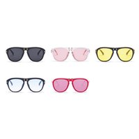 Wholesale photography modern - Candy Color Can Flip Sun Glasses Fashion Men And Women Colorful Sunglasses For Photography Pose Decor Modern Eyeglasses Hot Sale 15gf Z