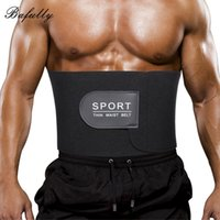 Wholesale thin slim waist belt - Bafully Males Modeling Strap Neoprene Body Shaper Slimming Belt Thin Waist Trainer Shapewear Men Abdomen Burner for Weight Loss