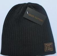turban beanie toptan satış-Beanie Örme Kış Kap Düz Renk Hip-Hop Slouch şapkalar skullies chapéu feminino, gorras sombrero mujer, türban