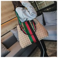 Wholesale bag travel female resale online - China Brand Stripes bags Female travel Letters Shoulder bags style ladies Cross body bags Tonggongchang