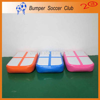 Wholesale inflatable boards - Free Shipping Gym Mat Inflatable Gymnastics Tumble Track Air Block Air Board For Sale