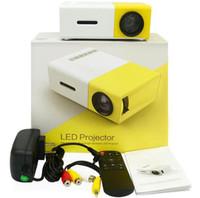 mini projetor hdmi frete grátis venda por atacado-Projetor portátil YG300 LED 400-600LM 3.5mm de Áudio 320x240 Pixels YG-300 HDMI USB Mini Projetor Home Media Player frete grátis