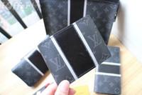 Wholesale print canvas photos resale online - MEN BLACK CANVAS FOLD WALLET PURSE BAG wallet purse Belt Bags Mini Bags Clutches Exotics