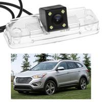 Wholesale rear view camera for hyundai resale online - New LED Car Rear View Camera Reverse Backup CCD fit for Hyundai Santa Fe ix45