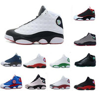 Wholesale With Box cement grey toes Mens Basketball Shoes XIII bred flints grey toe He Got Game hologram barons Sports sneakers good quality