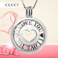 Wholesale Locket Men - Valentines Day of 2pcs sterling silver Sweet Heart Cage pendant for Women, for Men, 25*18.9*9mm