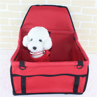 Wholesale car seats carriers resale online - Pet Dog Carrier Car Seat Pad Safe Carry House Cat Puppy Bag Car Travel Accessories Waterproof Dog Seat Bag Basket Pet Products