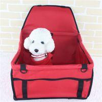 ingrosso sedili per auto cane da compagnia-Pet Dog Carrier Car Seat Pad Sicuro Carry House Cat Puppy Bag Car Travel Accessori Impermeabile Dog Seat Bag Cestino Prodotti per animali domestici