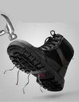 soldadura de homem venda por atacado-Sapatos de inverno novo trabalho seguro dos homens de alta ferramentaria biqueiras de aço anti-esmagamento punctura local de soldagem sapatos de segurança botas quentes e frias