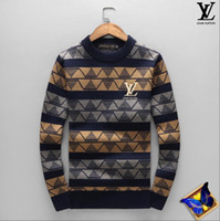 Wholesale clothes chinese style men - New Designer Sweater Pullover Men Brand Tops With Long Sleeve Crew Neck Cashmere Blend Embroidery Thin Wool Tiger Head WinterMens Clothing