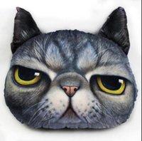 kedi minder yastıkları toptan satış-Karikatür Sandalye Koltuk Yastık Kişilik Araba Yastık Yaratıcı Yakışıklı Cat Nap Yastık Sevimli Koltuk Minder GA507 Şekle