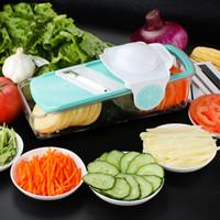 Wholesale built kitchens for sale - Group buy Vegetable Slicer Adjustable Mandoline Slicer With Built In Blades Vegetable Cutter Slicer Grater Box Blades Kitchen Tools