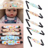 Wholesale baby stroller safety online - 1PC New Adjustable Baby Head Support Stroller Car Seat Fastening Belt Sleep Safety Strap