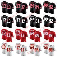 Wholesale eli manning jersey xl - NCAA Ohio State Buckeyes #13 Eli Apple 17 Jalin Marshall 24 Malik Hooker 92 Adolphus Washington Black Red White Camo College Football Jersey