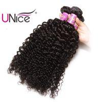 Wholesale Brazilian Curly Virgin Bulk Hair - UNice Hair Virgin Curly Wave 3 Bundles Brazilian Human Hair Bundles Peruvian Indian Malaysian Hair Weaves Nice Curl Wholesale Bulk Price