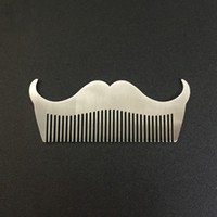 Wholesale steel beard online - Stainless Steel Beard Trim Comb Sturdy Safe Anti Static Combs Rust Resistant Easy To Carry Shaving Tools Silver ls B