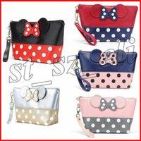 mäuse großhandel-Maus süße Clutch Bag Bowknot Make-up Tasche Kosmetiktasche für Reisen Make-up Veranstalter und Toilettenartikel 5 Arten