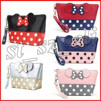 Wholesale organizer bags for travel resale online - Mouse cute clutch bag bowknot makeup bag cosmetic bag for travel makeup organizer and toiletry types