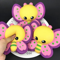 Wholesale new strap toys for sale - Group buy New Kawaii Squishy Toy Butterfly Cute Animals squishies Slow Rising Soft Squeeze Cute Strap gift Stress children toys