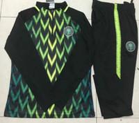 Wholesale uk euro - Fastest shipment to UK!Euro size Survetements world cup Nigeria jersey Ngerian 2018 training IWOBI Soccer Jogging football tracksuit