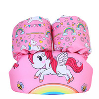 flotador de natación unicornio al por mayor-Baby Animal print Natación brazo anillo flotante inflable mangas bolsas de aire de seguridad cartoon unicornio C3774