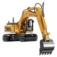 Wholesale model excavator car resale online - Mini Alloy Engineering Van Toys Truck Excavator Rock Drilling Cars Model Diecasts Toy Engineering Vehicles Kids Toys for Gifts